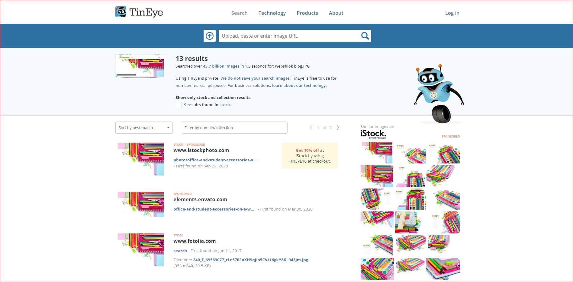 webshlok single product search