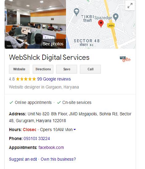 google business of webshlok